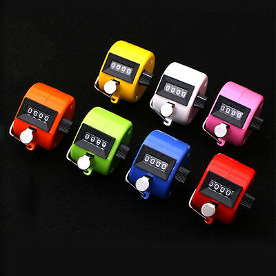 New Digital Chrome Hand Held Tally Counter Tool4 Digit Number Clicker Golf