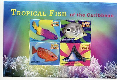 St. Kitts Stamp 2014 Tropical Fish Of The Caribbean Sheet #2