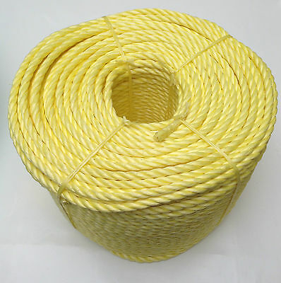 10mm Yellow Poly rope polypropylene coils -strong floats -agriculture sailing