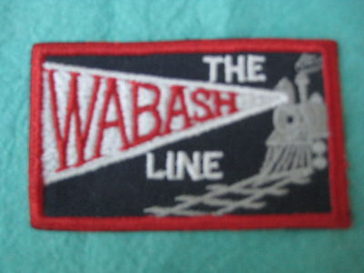"""Vintage The Wabash Railroad Line Sew On Patch 3 1/4"""" X 2"""""""