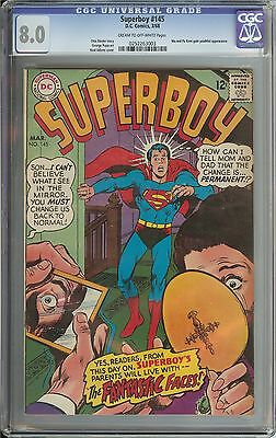 Superboy #145 Cgc 8.0 Cr/ow Pages // Neal Adams Cover