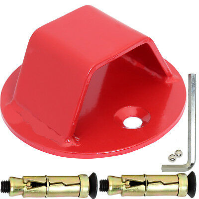 Red Motorbike Ground/wall Chain Anchor Motorcycle/bike Security Locking Point