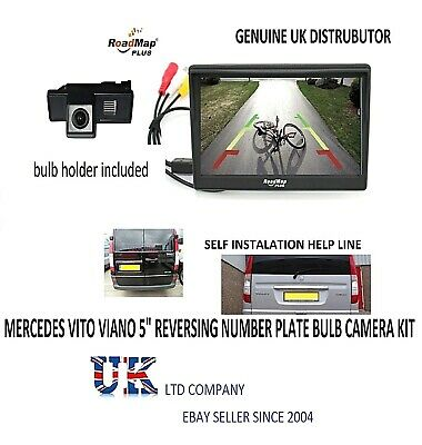 mercedes vito viano rear reverse parking camera kit number plate