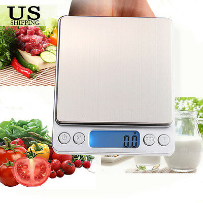 3000g/0.1g Stainless Steel Digital Jewelry Pocket Gold Gram Weight Scale Balance