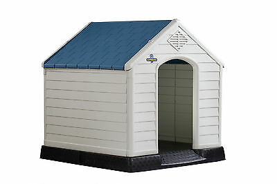 Confidence Pet XL Waterproof Plastic Dog Kennel Outdoor Winter House EXTRA LARGE