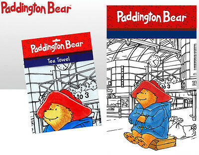 Paddington Bear Traditional Tea Towel - 100% Cotton