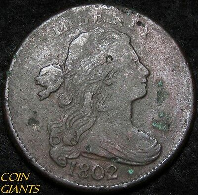 1802 Draped Bust Large Cent 1c RARE Coin VF/XF  Very Extra Fine Details US Type