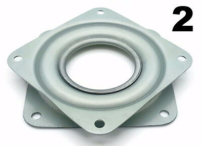 """Two Square 3"""" Inch Lazy Susan Turntable Bearings - 5/16"""" Thick & 200 LB Capacity"""