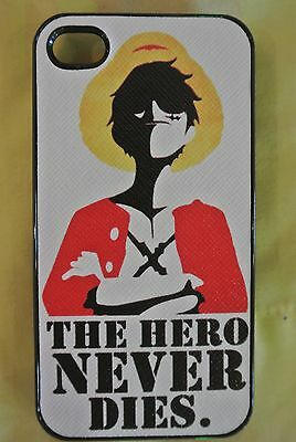 USA Seller Apple iPhone 4 /& 4S Anime Phone case  One Piece Monkey D Luffy