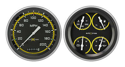 Classic Instruments 51-52 Chevy Car Package w/ Auto Cross Grey Gauges Dash