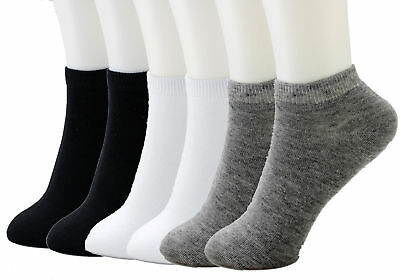 6-12 Packs Ankle Cool Socks Sport Mens Womens Size 9-11 Low Cut Lot NWT#70033A