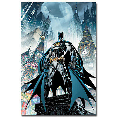 Batman Comic Art Silk Poster Kids Room Decoration 13x20 inch