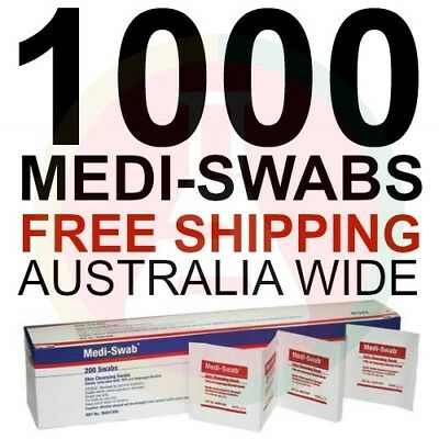 1000 x Alcohol Wipes Medical Wipes Medi Swabs - Sterile Screen Cleaners