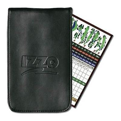 IZZO Flip Top Style Leather Golf Scorecard or Course Planner Holder