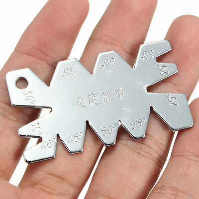 New Stainless Steel Chrome Screw Thread Cutting Angle Gage Gauge Measuring Tool