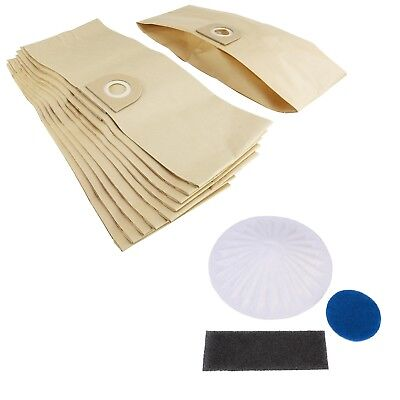 10 x Vacuum Cleaner Dust Bags & Filter Set For Vax 3 in 1 Multifunction 6131