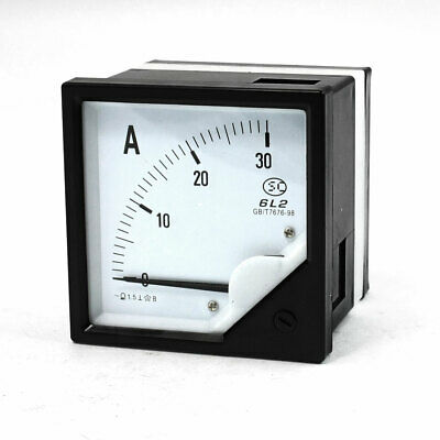 0-30A Analog AC Ammeter Current Panel Meter 6L2 1.5 Class Accuracy