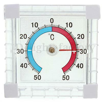 Window Indoor Outdoor Wall Mounted Garden Home Office Temperature Thermometer