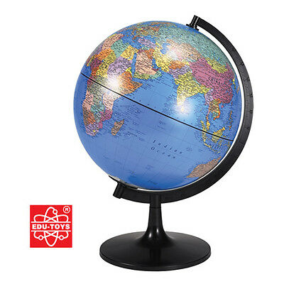 Edu Science 28cm World Countries Globe & Base Educational Childrens Atlas Map