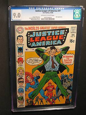 Justice League of America   #77   CGC 9.0  (12/69)  Joker Appearance! NO RESERVE