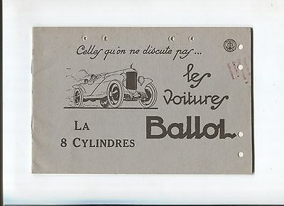 N°7059  / catalogue les voitures BALLOT   8 cylindres