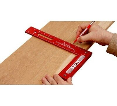 "Woodpeckers Tools 1281R Precision Woodworking Square 12"" x 8"""