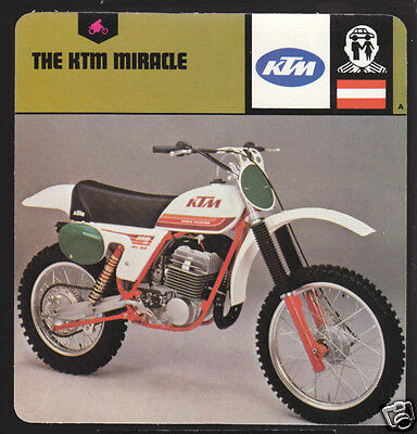 THE KTM MOTORCYCLE MIRACLE 1979 250cc Motocross CARD