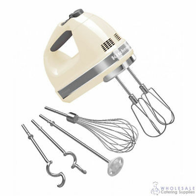 KitchenAid Hand Mixer KHM926 Almond Cream Electric Mixing Whisking Beater Dough