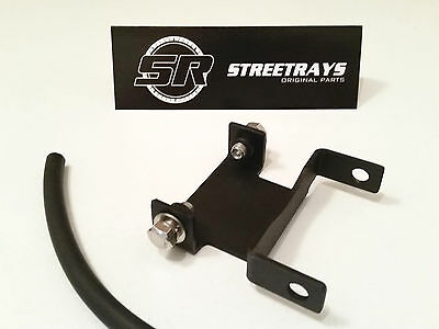 "[SR] 96-15 Harley Davidson Dyna 2.25"" Black HD Tank Riser Bracket Extension Kit"