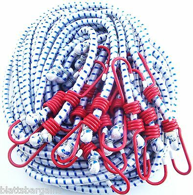 """12 Ate Professional 24"""" Heavy Duty Bungee Cords Tie Down Straps 1/2"""" Thick 92024"""