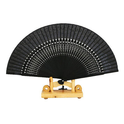 Chinese Silk Bamboo Flower Folding Pocket HAND FAN Wedding Favor Party Gift