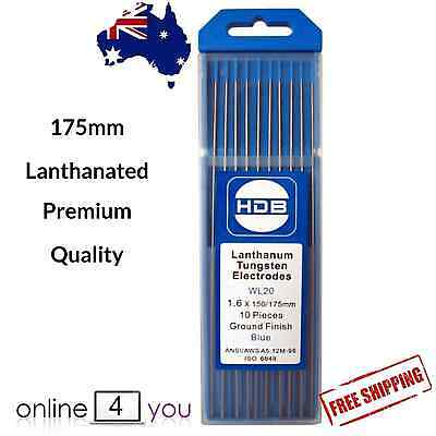 TIG Tungsten Electrodes 2% Lanthanated 1.6mm Welding  PREMIUM QUALITY 10 pack