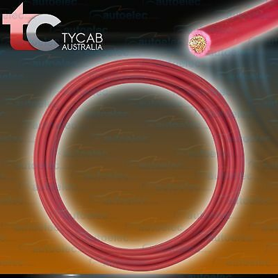 2 B&S  CABLE DUAL BATTERY SYSTEM 12V x 6 METRES RED STARTER EXTENSION