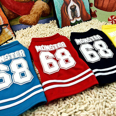 Summer Pet Puppy Small Dog Cat Pet Clothes Cotton Vest T Shirt Apparel Costumes
