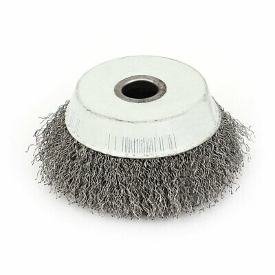 10cm Dia Stainless Steel Crimped Wire Cup Wheel Rust Removal Cleaning Brush