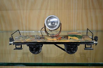 Marklin 1 Gauge Camoflage Searchlight Car in LN (C8) Condition - Hard to Find!