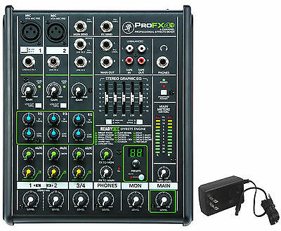 New Mackie PROFX4v2 Pro 4 Channel Compact Mixer w Effects PROFX4 V2