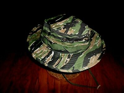 U.s Military Style Tiger Stripe Boonie Camouflage Floppy Bucket Hat Size 7  1 4 4155923a28a4