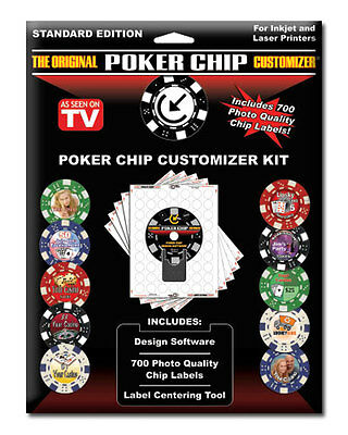 Poker Chip Customizer Personalize Chips Las Vegas NEW & Labels Do-It-Yourself  *