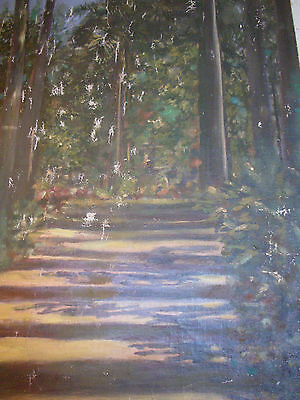 A Surfaced Walk.  Spanish Oil Painting Signed  Checa
