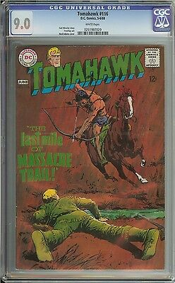 Tomahawk #116 Cgc 9.0 White Pages // Neal Adams Cover