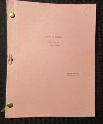 1992 BADGE OF SILENCE Television Show Final Script 91 pgs FN Larry Cohen