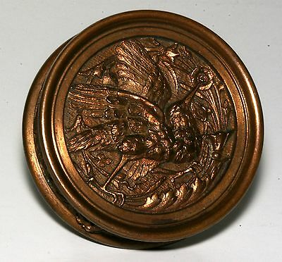 "1880's Antique Victorian ""hummingbird"" Bronze Door Knob, Very Rare & Beautiful!"