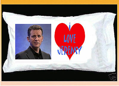 I Love Jeremy Kyle Pillowcase With Red Heart
