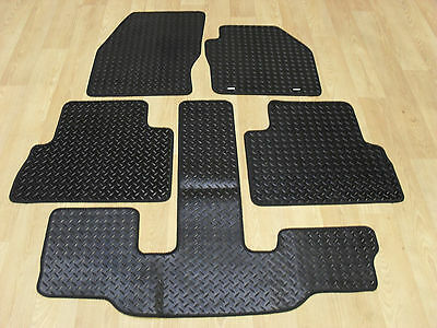 Ford C-Max Grand 2011-13 Fully Tailored RUBBER Car Mats in Black.