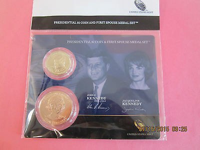 2015 John F & Jacqueline Kennedy First Spouse Presidential Coin & Medal Set