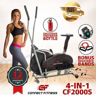 CONNECT FITNESS 5in1 Elliptical Cross Trainer & Exercise Bike Home Gym Equipment