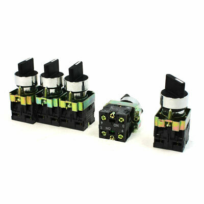 10A 600V Latching 4 Terminal 3 Position DPST 2N/O Rotary Selector Switch 5 PCS