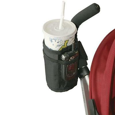 Black Stroller Cup Holder Drink Pocket Insulated Soft Cell Phone Holder New LJ