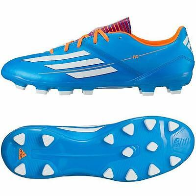 Mens Adidas F10 TRX Hard Ground Moulded Studs Football Soccer Blue Boots 6-11 UK